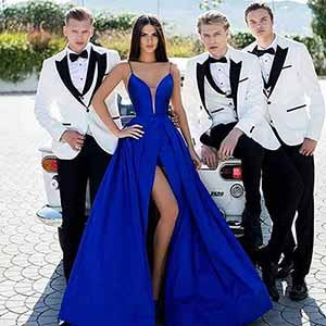 How to make Wedding Gowns tailoring Blue prom dresses 1