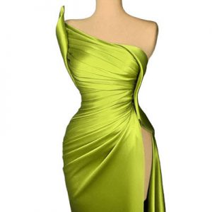 Light Green Satin Evening Dresses