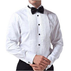 White Tuxedo Shirt For Man