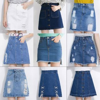 jeans skirt alteration