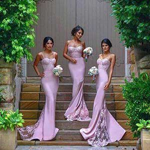 three Beautiful girls bridesmaids